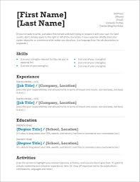 Single Job Resume Template Rachelle Smith Supply Chain Manager One