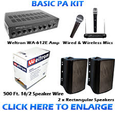 sound system kit. basic pa sound system kit s