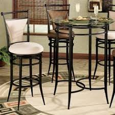 decoration furniture modern decoration with black metal tall bar table with galss top and chairs dining room