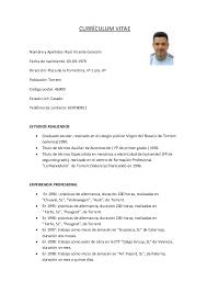modelo curriculum