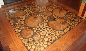 his work over the years includes some truly unique floors including a recycled log floor hand painted zebra floor and even a chess board floor