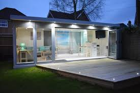 summer house lighting. Simple House Beautifully Lit Up On A Summer Evening On Summer House Lighting F