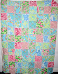 Items similar to Made to Order Queen Quilt - Lilly Pulitzer fabric ... & Items similar to Made to Order Queen Quilt - Lilly Pulitzer fabric - Your  Color Choice on Etsy Adamdwight.com
