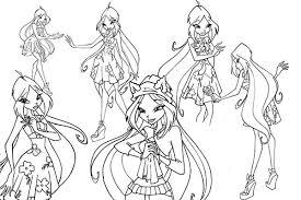 Small Picture The Nymph of Sirenix Winx Club Coloring Pages Batch Coloring