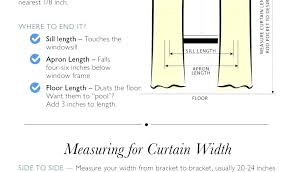 standard window sill height shower curtain widths standard shower curtain height rail net throughout rod sizes