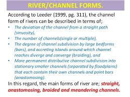channel form sedimentary environment fluvial channel