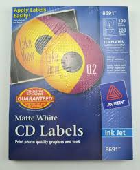 Avery Cd Labels 100 Disc Labels 200 Spine Labels 8691