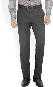 Wills Lifestyle Trousers Size Chart Wills Lifestyle Slim Fit Men Grey Trousers