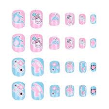 24 шт./компл., Детские накладные <b>наклейки</b> для ногтей ...