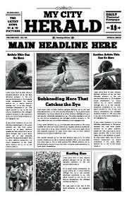 Editable Newspaper Template Word Free Newspaper Templates Print And Digital Free Newspaper