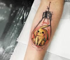 Pikachu In Light Bulb Tattoo By Felipe Rodrigues Photo 25101