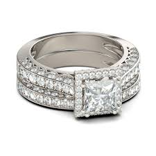 princess cut white sapphire 925 sterling silver bridal women s enement ring joancee jewelry