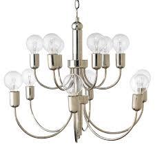 little modern classic silver metal chandelier