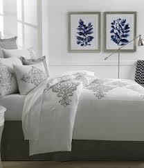 southern living tisdale damask embroidered duvet mini set