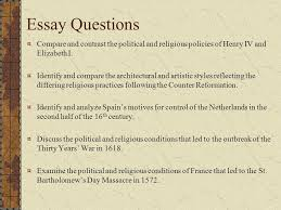 chapter the age of religious wars chapter the age of 12 essay questions