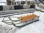 Сани самодельные к снегоходу