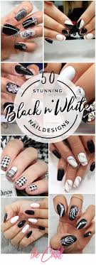 Cool Nail Designs With Black And White 50 Stunning Black And White Nail Designs That Are Easy To