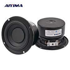 AIYIMA 2PCS Subwoofer Audio Speaker Portable Mini Stereo Speakers Woofer  Full Range Loudspeaker Horn 3 inch 4 Ohm 8 Ohm 25W|4 ohm|speaker  wooferspeaker portable mini - AliExpress