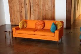 mad men furniture. Bernice Orange Mid Century Sofa Mad Men Furniture