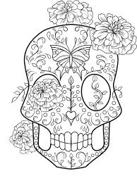 Small Picture Sugar Skull Coloring Page Coloring Home