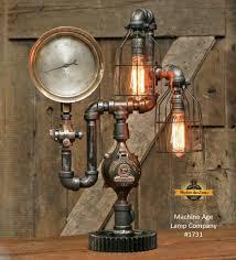 steampunk lighting.  lighting steampunk industrial lamp  antique steam gauge gear 1731 throughout lighting