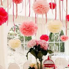 Tissue Paper Flower Ideas Us 1 16 21 Off Artificial Flowers Pompom Paper Flowers Ball Wedding Birthday Party Decoration Tissue Paper Pom Poms Paper Flowers In Artificial