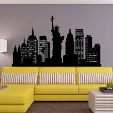 new york city skyline wall decal nyc silhouette new york wall decals