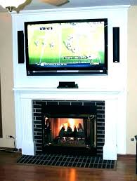 mount tv on brick fireplace hide wires mount on brick fireplace