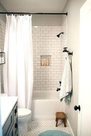 shower curtain or glass door shower curtain or glass door intended for 8 good subway tile