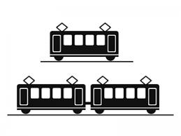 電車鉄道イラストアイコン素材01 イラスト無料かわいいテンプレート