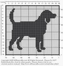 Beagle Filet Pattern Crochet Letters Dog Outline Cross