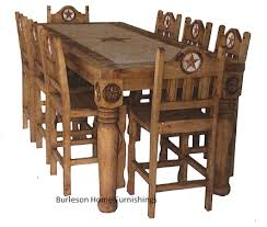 rustic dining set. Rectangle Rustic Dining Set With Star Marble Inlay. Name Of Product S