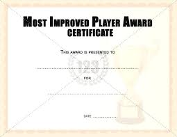 Award Certificate Template Free Most Improved Award Template Printable Student Awards Certificates
