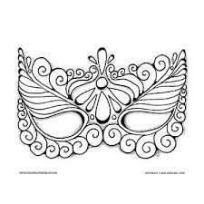 Small Picture Mask Coloring Page