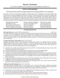 Supply Chain Manager Resume Bestresume Com