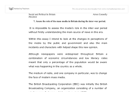 assess the role of the mass media in britain during the inter document image preview
