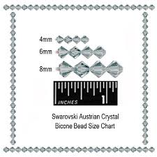 Bicone Bead Size Chart 60 Detailed Bicone Bead Size Chart