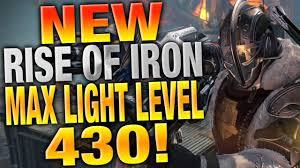 Max Light Level For Level 20 Rise Of Iron Max Light Bigit Karikaturize Com