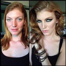 8 18 beautiful models before and after makeup