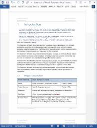 Statement Of Needs Template (Ms Word) | Templates, Forms, Checklists ...