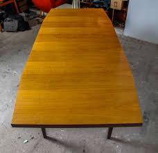 german extra long dining or conference table by kondor möbel perfektion 1960s for
