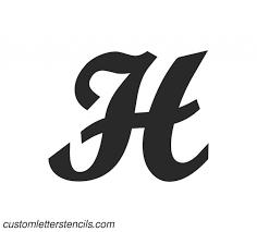 Custom Letter Art Template Gorgeous Brush Art Letters Crafts Alphabets Custom Letter Stencils Ohlwka