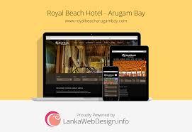 Web Design Sri Lanka Kandy Royal Beach Hotel Arugam Bay Web Design Seo Services