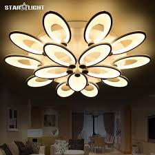 new house lighting. Fashion Flower Modern LED Chandelier Living Room RC Dimmable Lights New House Decoration Lighting Acrylic A