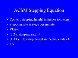 acsm stepping equation