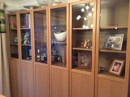 ikea billy bookcases oak with part glass doors reduced