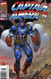 captain america cover in may 1997 by jim lee richard bennett