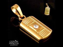 high quality gold pendant ceylon