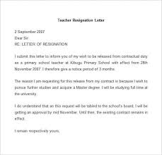 Sample Teacher Resignation Letter min
