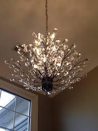 well liked foyer chandelier branch of light design joshua marshall home inside crystal branch